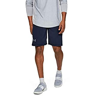 Under Armour Men's Raid 10-inch Workout Gym Shorts , Midnight Navy (410)/Steel , Small