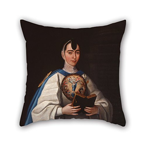 The Oil Painting Jos? Mar?a V?zquez - Portrait Of Sister Mar?a Antonia Del Coraz?n De Jes?s Pillow Covers Of 20 X 20 Inches / 50 By 50 Cm Decoration Gift For Family Bedding Office Play Room (Del Mar Sectional Sofa)