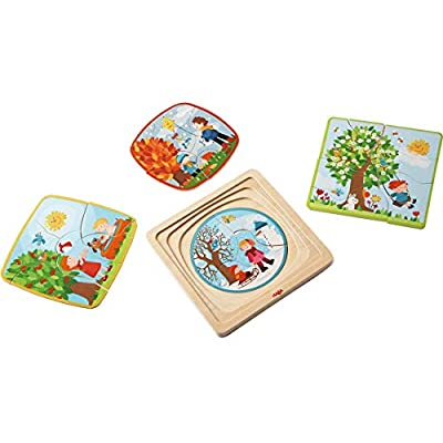 HABA Wooden Puzzle My time of Year with Four Layers - One for Each Season - 22 Pieces in All - Ages 3 and Up: Filipiak, Anna-Lena: Toys & Games