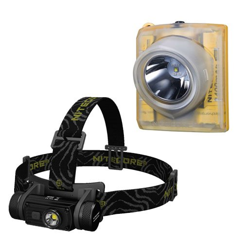 Bundle: Nitecore HC60 CREE XM-L2 U2 Rechargeable LED Headlamp 1000 Lumens with Nitecore EH1 (your choice of beam tint) by Nitecore