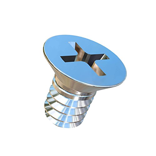 Allied Titanium 0037369, (Pack of 50) #6-32 X 1/4 UNC Titanium Flat Head, Phillips Drive, Machine Screw, Grade 2 (CP) - Titanium Flat Head