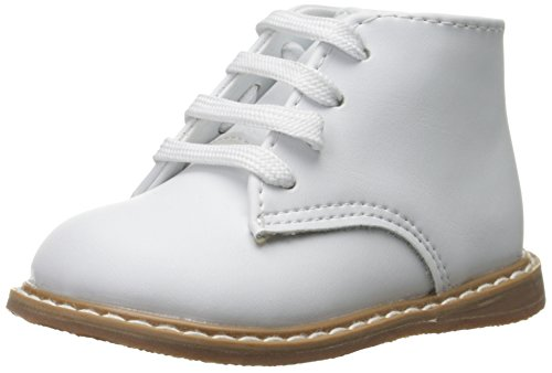 Baby Deer High Top Leather First Walker (Infant/Toddler),White,3 M US Infant ()