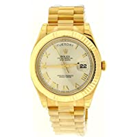 NEW Rolex Day Date II President 18K Yellow Gold Mens watch 218238 CHRP
