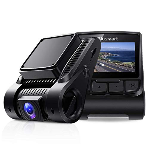Blusmart Dash Cam, Full HD 1080P Dashboard Camera, WDR Driving Recorder with WiFi, 170° Angle Lens, 2.45 inch IPS Display, Loop Recording, G-Sensor, and Night Vision, Supports 32GB Micro SD Card