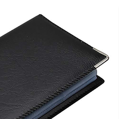 Visitenkartenetui Gesch/äft einfaches Leder Visitenkartenmappe Mode gro/ße Kapazit/ät Aufbewahrung Geschenk schwarz 320 Blatt