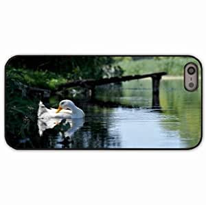 Case For Htc One M9 Cover Black Hardshell Case lakes forest goose bird Desin Images Protector Back Cover