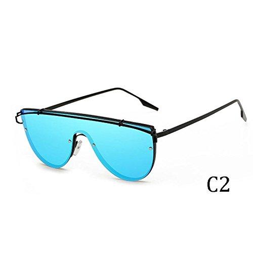 2285C4 Rosa Oro Por Azul Anteojos Gafas De TIANLIANG04 Siameses Plata La Para Los Reflejar Mujer Para Sol El 2285C1 Hombre Rosa qwTqHZ