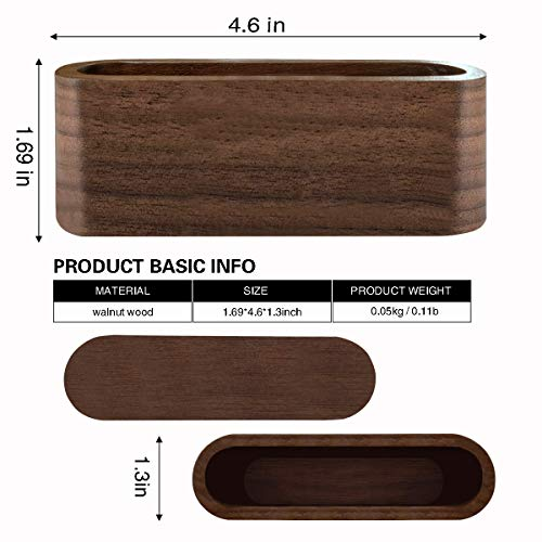 Topspeeder 1 Pack Business Card Display Holder, Brown Walnut Wood Card Case for Desk Desktop, Wooden Name Card Stand for Office, Name Card Holder for Tables Organizer Index Card Filing (Sealed)