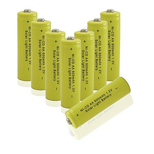 GEILIENERGY Solar Light AA Ni-CD 600mAh Rechargable Batteries (Pack of 8)