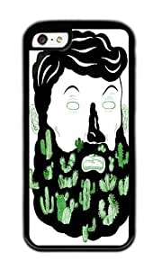 Apple Iphone 5C Case,WENJORS Awesome Cactus Beard Dude Soft Case Protective Shell Cell Phone Cover For Apple Iphone 5C - TPU Black