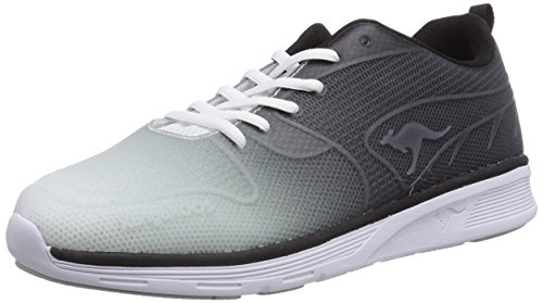 Kangaroos K- Light 8003, Unisex Adults Low-Top Sneakers Black (Black/White 500)