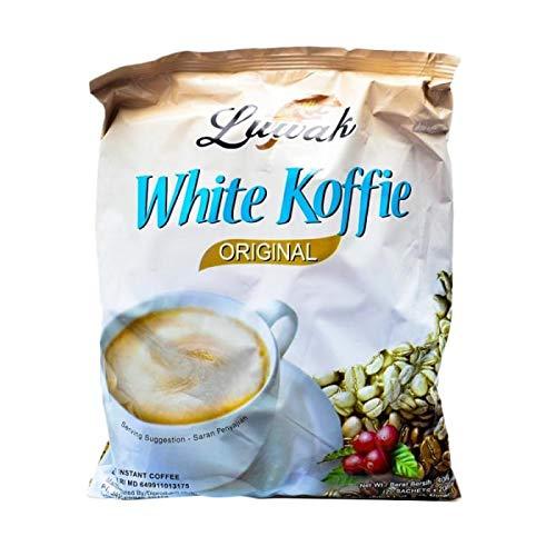 Kopi Luwak White Koffie Original (3 in 1) Instant Coffee 20-ct, 400 Gram (Pack of 6)