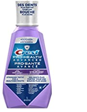 Crest Pro-Health Advanced Anticavity Flouride Mouthwash, Strengthens Enamel, Clean Mint, 1L