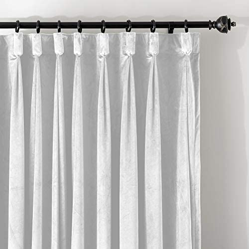 ChadMade Goblet 120W x 96L Blackout Lined Velvet Curtain Drapery Panel