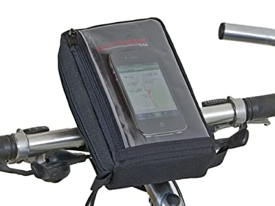 Bushwhacker Reno - Bicycle Smart Phone Holder - Universal Fits Most Smart Phone Models - Cycling Cell Handlebar Bag Bike Phone Mount Front Rear Frame Accessories