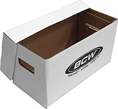 (1) BCW Brand 7 Record Album Storage Box with Removable Lid - Holds Up to 150 Vinyl Records