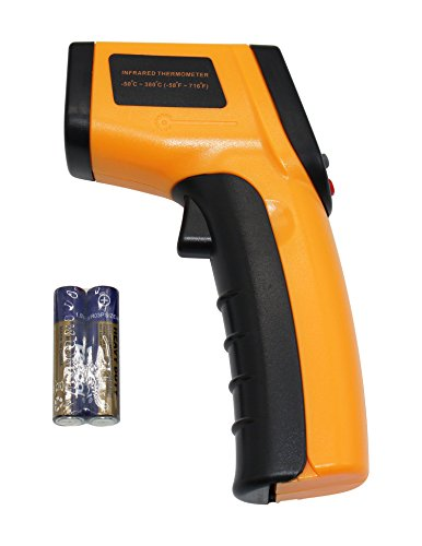 Non-contact Digital Laser Infrared Thermometer Electronic Thermometer Temperature Gun 200 to 1850℃ (392 to 3362F) by TNS Instruments