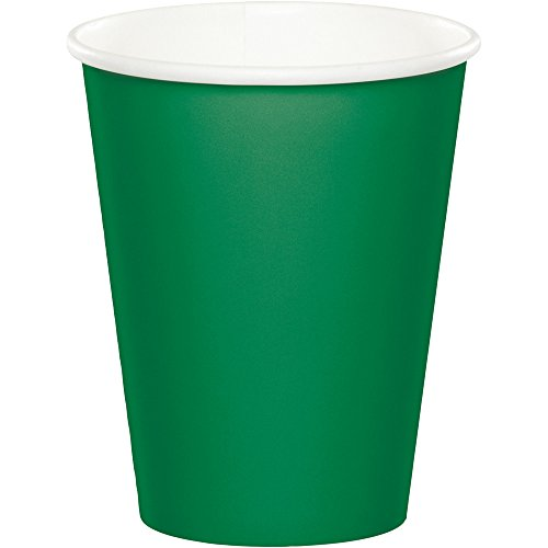 Creative Converting Celebrations 96-Count 9 oz. Hot/Cold Cups, Emerald Green - 563261 ()