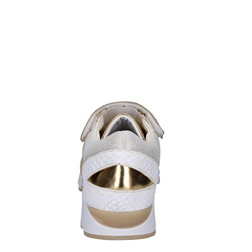 37 Cuero Eu t Textil e Oro D Sneakers Mujer a Date Blanco TPnTY71