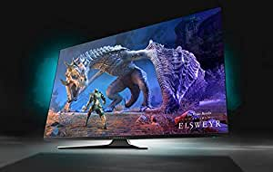 """Alienware 55 OLED Gaming Monitor: AW5520QF, World's First 55"""" OLED Gaming Monitor. Featuring 4K Resolution 3840 x 2160 at 120Hz True-to-Life Colors, Low Input Latency and AW Legend Industrial Design"""