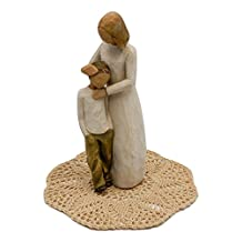 Willow Tree Family Themed Figurine with Westbraid Doily (Mother and Son)