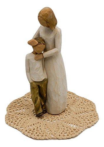 Son Willow Tree - Willow Tree Family Themed Figurine with Westbraid Doily (Mother and Son)