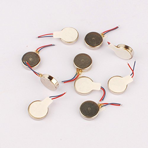 10Pcs 3V Dc Coin Vibration Motor 102.8mm For cell phone or Toy