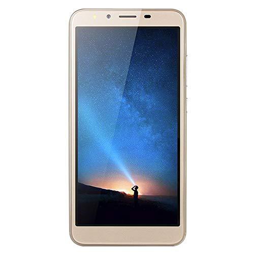 Ultrathin Unlock Phone,5.5 inch Dual SIM Dual HD Camera Smartphone Android 6.0 Octa-Core 512MB+4GB GSM 3G Phone (R15 Plus, Gold)