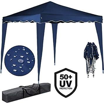 Deuba Tente pliante 3x3 m Tonnelle pavillon jardin pliable bleu + ...