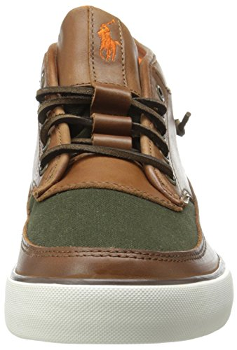 Polo Ralph Lauren Mens Pietro Fashion Sneaker Polo Tan / Azienda Oliva