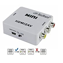 RioRand Mini HDMI to RCA HD Video Audio AV CVBS Adapter Converter 720p/1080p HDMI2AV T3
