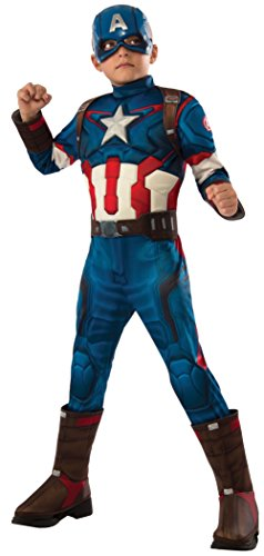 Rubie's Costume Avengers 2 Age of Ultron Child's Deluxe Captain America Costume, (Captain America Muscle Costumes)