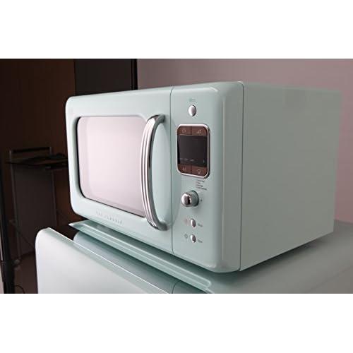 Daewoo KOR7LBKM Retro Style Microwave Oven, 20 L, 800 W, Mint