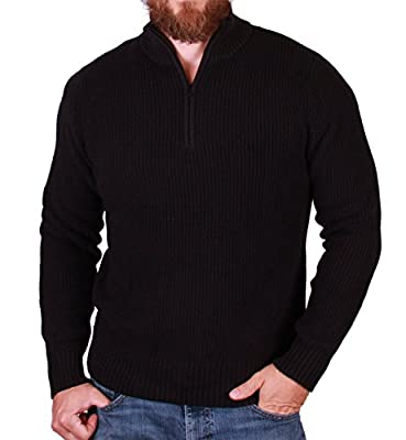 Calvin Klein Men's Quarter-Zip Sweater (XL, Black)