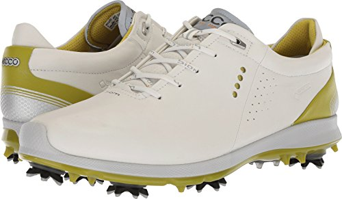 ECCO Men's Biom G2 Free Gore-Tex Golf Shoe, White/Kiwi, 13 M US