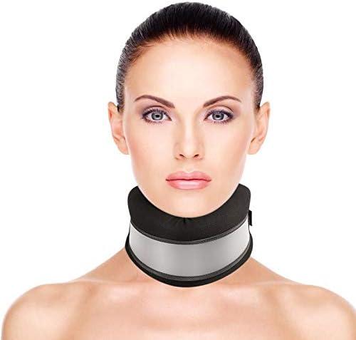 Healifty Collarín Cervical Blando - Blando Collarines Cuello Ortopédico, Soporte de Cuello, Alivio del Dolor y la Presión en la Columna Vertebral (Negro)