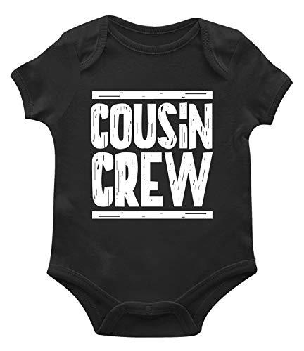 SpiritForged Apparel Cousin Crew Infant Bodysuit, Black 12 Months