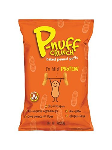 Healthy Snack Perfect Life Nutrition Pnuff Crunch Vegan Baked Peanut Puffs with Protein (Original Flavor, 4 oz., 5 count)
