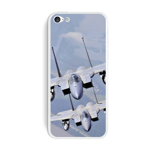 Graphics and More US Airforce Pair of F-15 Strike Eagles Protective Skin Sticker Case for Apple iPhone 5C - Set of 2 - Non-Retail Packaging - Opaque
