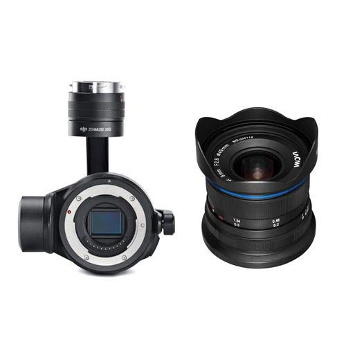DJI Zenmuse X7 Camera and 3-Axis Gimbal - With Venus Laowa 9mm f|2.8 Zero-D Ultra Wide-Angle Prime Lens f|DJI DL