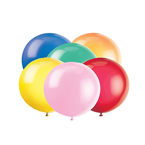 Giant Latex Balloons Assorted 6ct product image