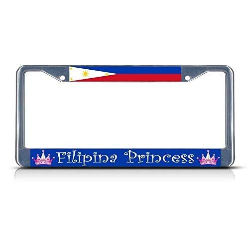 Philippines Filipino Princess Chrome License Plate Frame Chrome Funny Novelty Gifts Idea