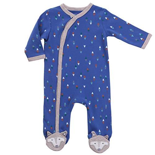 Newborn Footed Pajamas Boys Baby Sleepers Side Snap Onesie Footies Navy Blue Nb