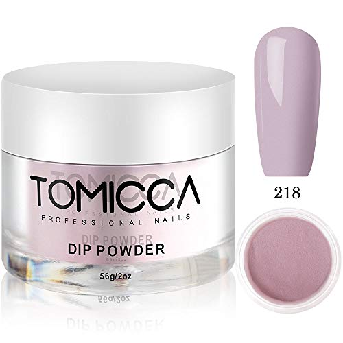 - Dip Powder Nail Colors, 2 oz, 56g, Non-Toxic, Odor-Free, Long Lasting Natural Dry, Without UV/LED Lamp Cured (218)