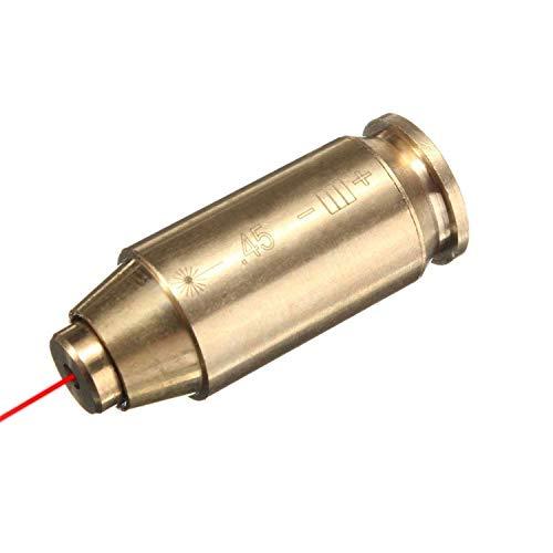 Micnaron 45 ACP BoreSight/Boresighter/Bore Sight,Bore Sighter .45ACP/.45 Boresight-Red Dot Laser Sight in-Chamber Bore Sighter,Brass (45 Laser)