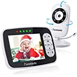 """Baby Monitor, Anmade Video Baby Monitor 3.5"""" Color Screen, Baby Monitors with Camera Night Vision,Support Multi Camera,ECO Mode,Two Way Talk, Temperature Sensor,Built-in Lullabies"""