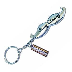 anchorman moustache bottle opener key chain automotive. Black Bedroom Furniture Sets. Home Design Ideas