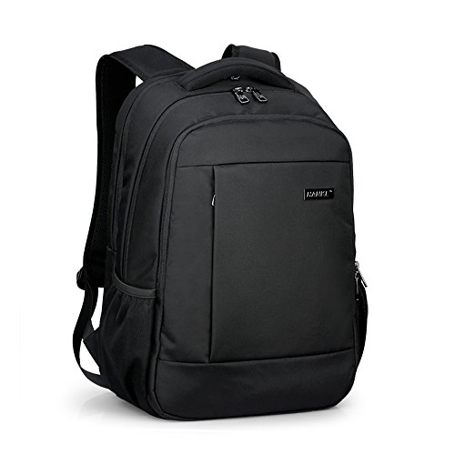 Book Weight (Slim Men Women Business Laptop Backpack Lightweight Computer Bookbags Daypack for College Work Travel Bag by Hanke (18 inches, Black(B)))
