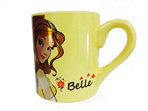 Silver Buffalo DP1832Z Disney Belle Laser-Printed Ceramic Mug, 14 oz., Yellow