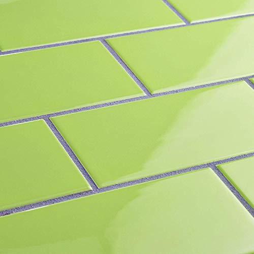 3x6 Subway Kiwi Green Ceramic Wall Tile Glossy (Sample Listing)